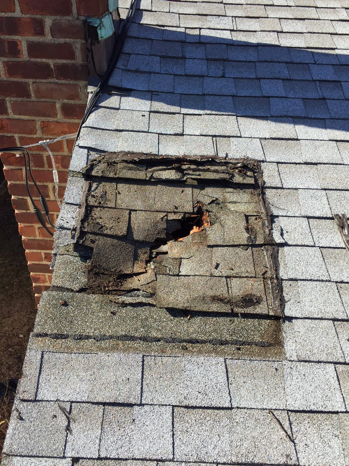 After The Roof Contractor Removed The U201cpatchu201d, Well, You Can See For  Yourself. Rotted Shingles, Wood, Decking, An Expensive Mess Indeed As A  Large Portion ...